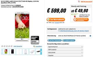 LG Optimus G2 pre-orders start in Germany, 16GB memory price is 599 Euro, 629 Euro price 32GB