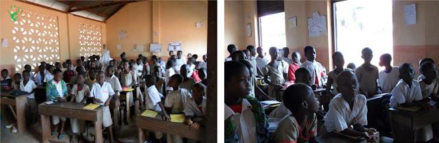 L'interno delle classi nella scuola elementare di Noepé, Togo, Africa