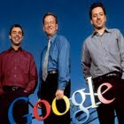 Sergey Brin, Larry Page e Eric Schmidt