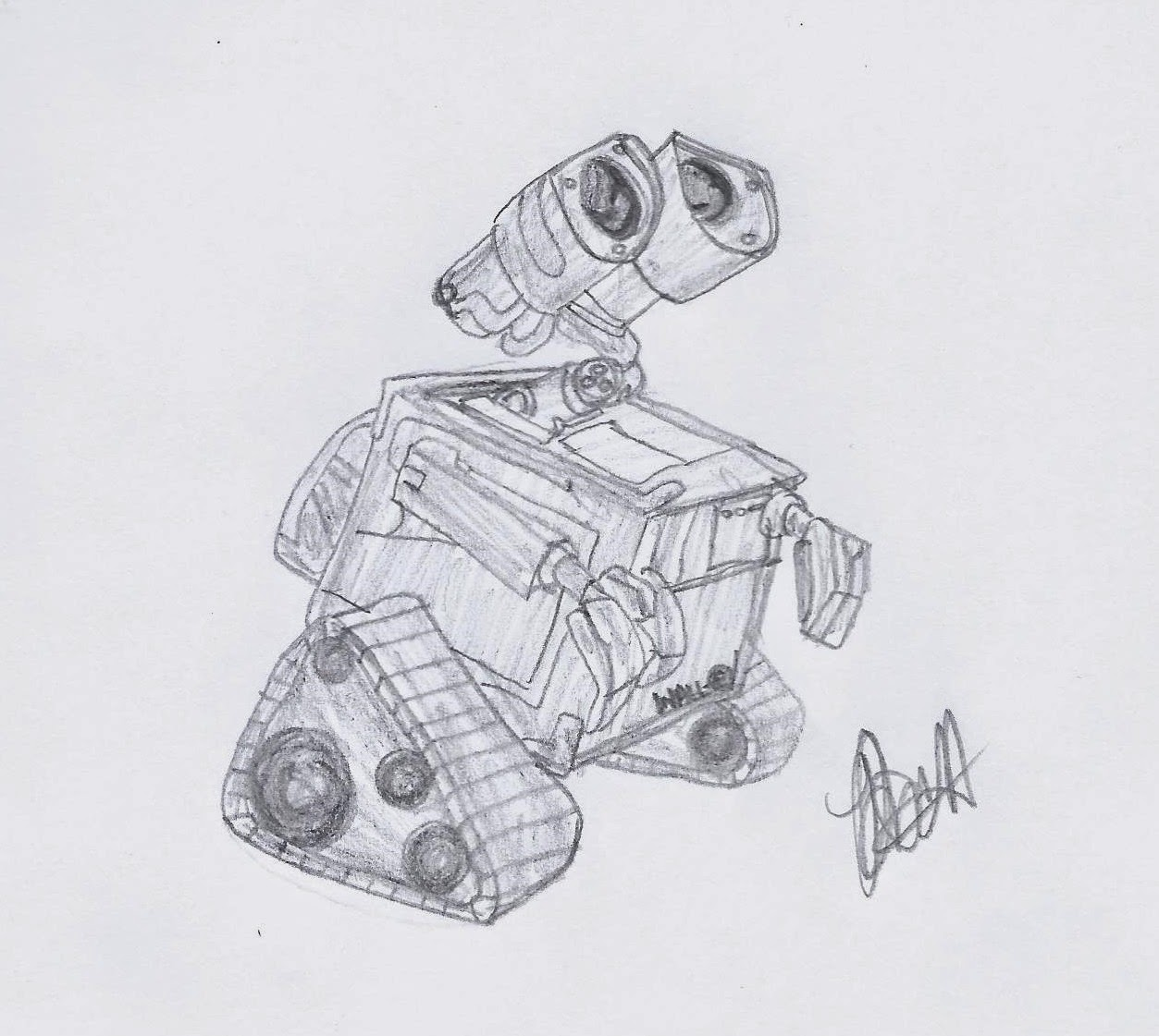Disney Illustration Study: Wall-e, www.JoLinsdell.com