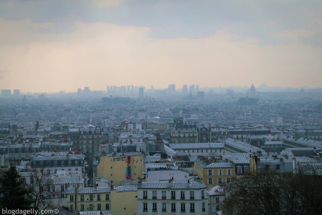 A vista de Montmartre em Paris