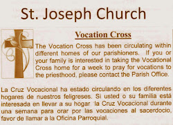 Vocation Cross at St. Joseph Church