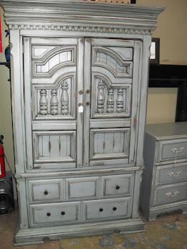 FRENCH GARDEN TREASURE ARMOIRE(SOLD)