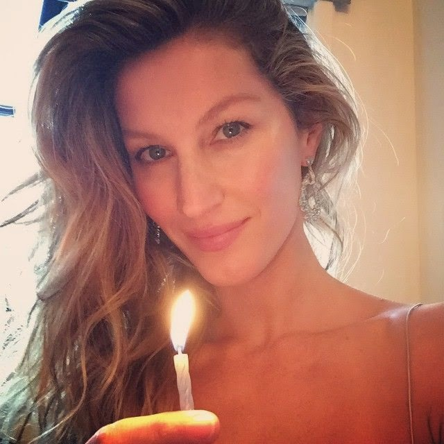 Gisele Bundchen appeared to be having a wonderful time with us. . . . . . .Thanks for the cute candlelight and Happy New Year's Eve 2015!!!