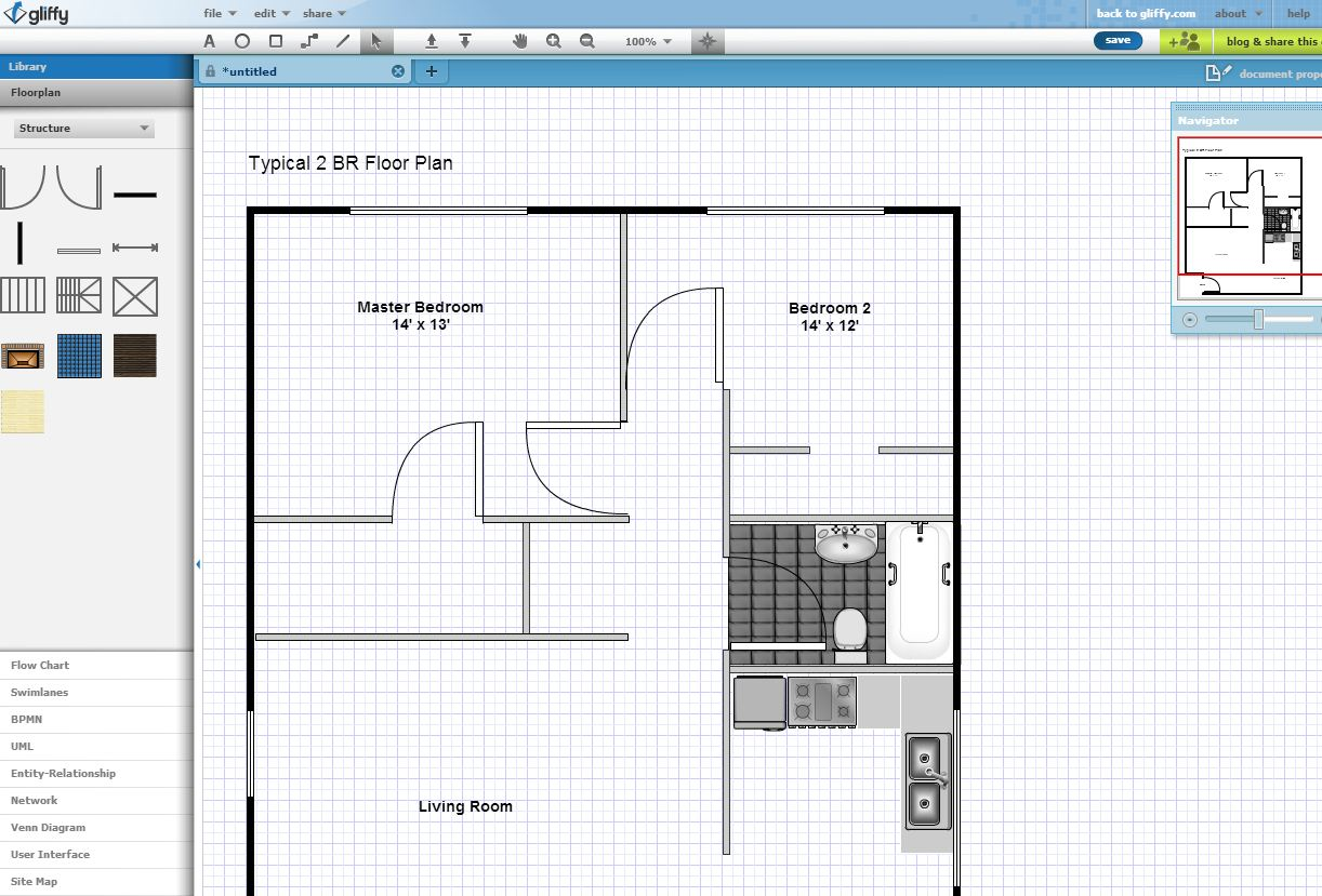 floor plan created with Gliffy