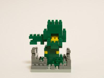 ナノブロックで作ったグリーンモンス