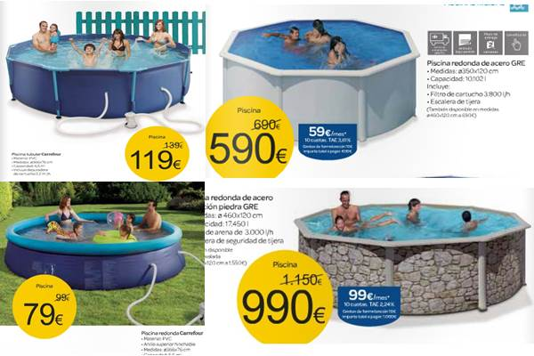 Catalogo carrefour oferta de piscinas verano 2013 for Piscinas hinchables alcampo