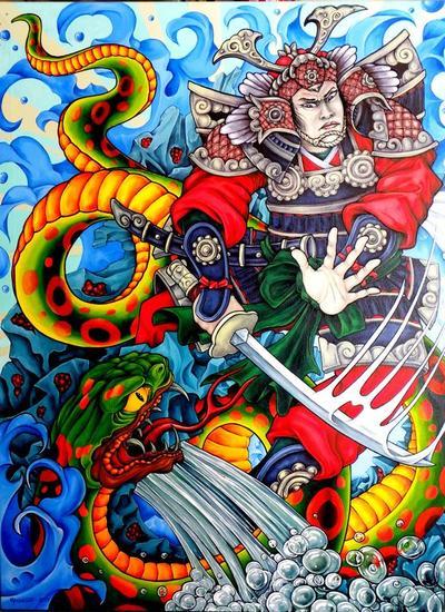 Samurai y su serpiente circunstancial