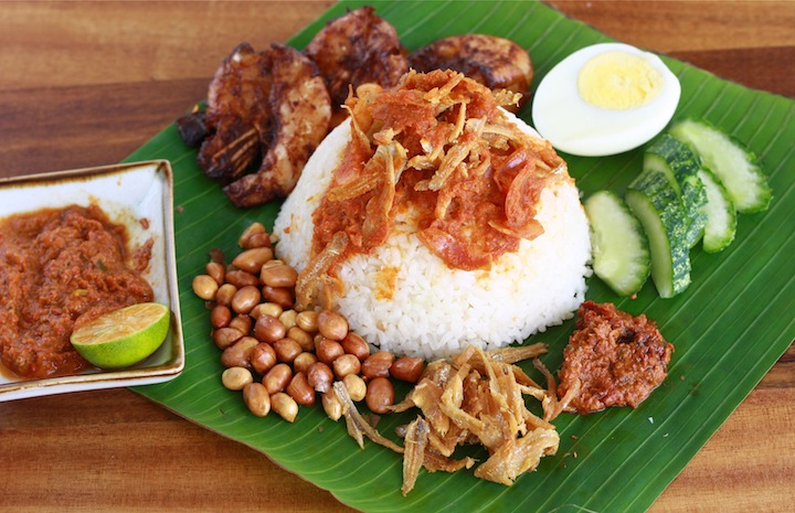 nasi lemak recipe malaysian coconut milk rice
