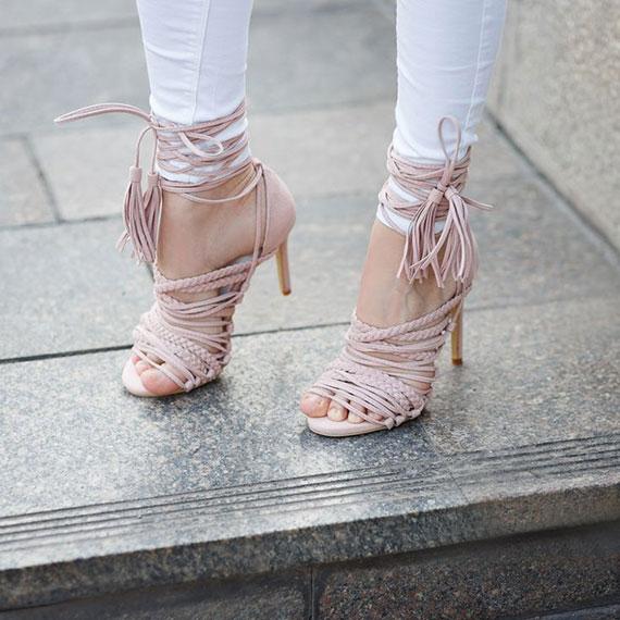 tassell heels DIY, no sew DIY