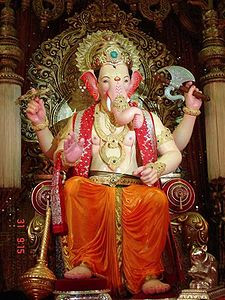 Lalbaughcha Raja (2008) Ganesha image worshipped in Mumbai