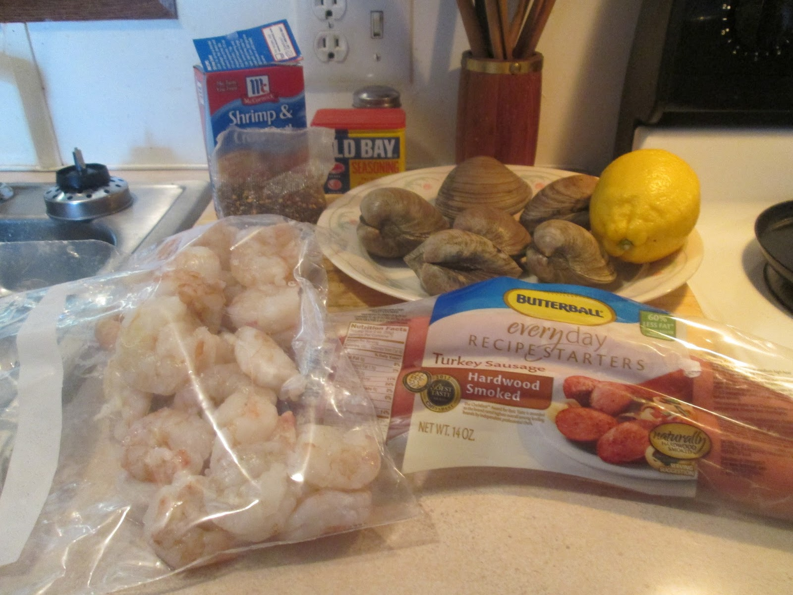 Diab2Cook: Low Country Seafood Boil w/ Baked Sour Dough Bread