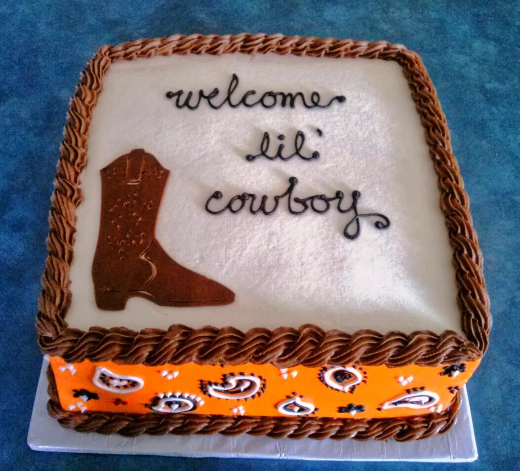 Simply Sweet Lil Cowboy Baby Shower Cake