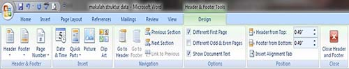 Tutorial MS. Word 2007 : Membuat penomoran halaman dari halaman kedua dokumen