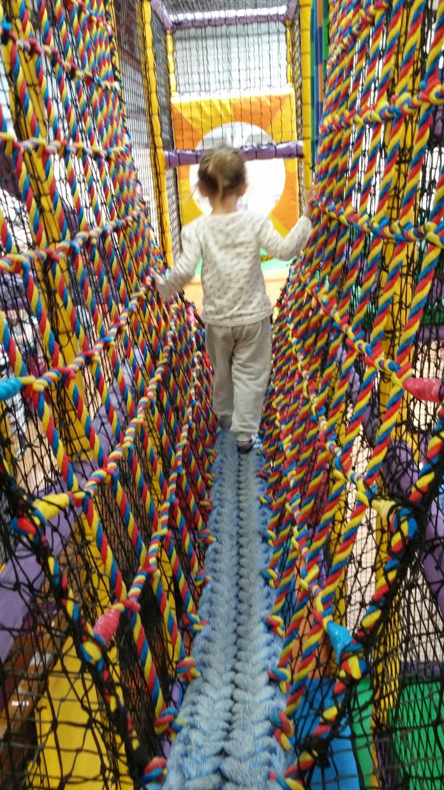 Soft play rope bridge
