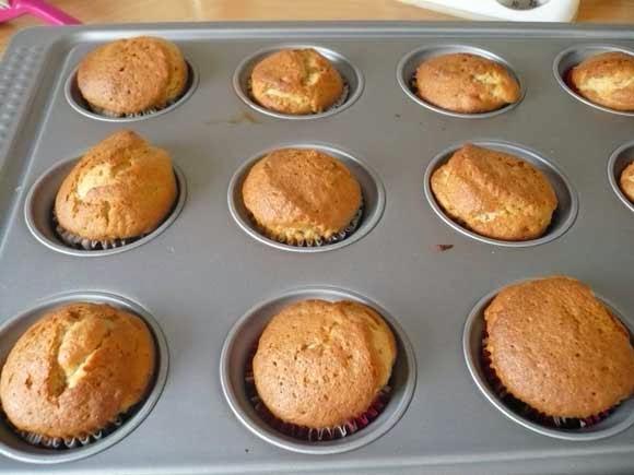 Gekarameliseerde appel cupcakes