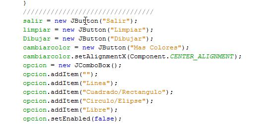 El Rincn de Programacin UES Mini Paint en Java