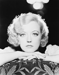 Vintage black and white photo of actress Marion Davies.