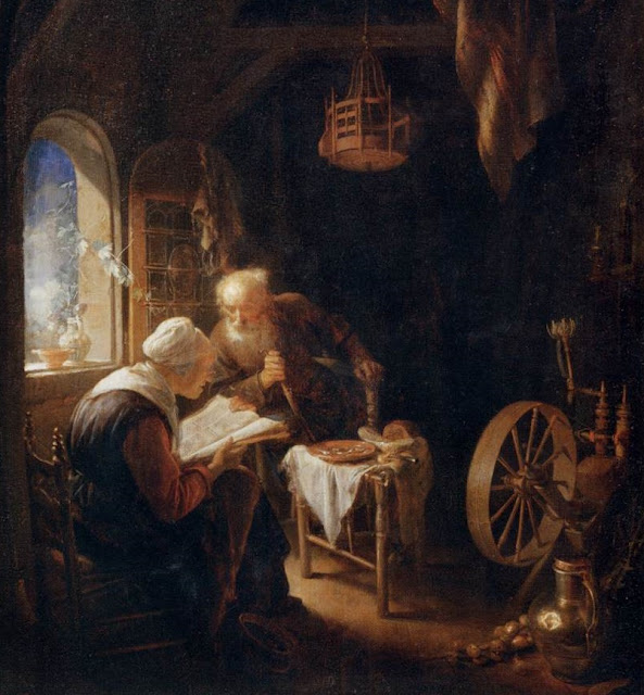 Gerard Dou,reading the bible,5 stars