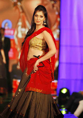 Actress Lakshmi Rai in Half Saree Photos