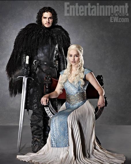 Daenerys Targaryen Emilia Clarke Entertainment Jon Nieve Kit Harington Weekly 4 - Juego de Tronos en los siete reinos
