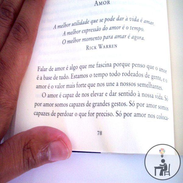 trecho do livro, gostei, indico, resenha, dica de livro, atelier wesley felicio, eu por mim mesmo, sobre o amor, citação, frase,