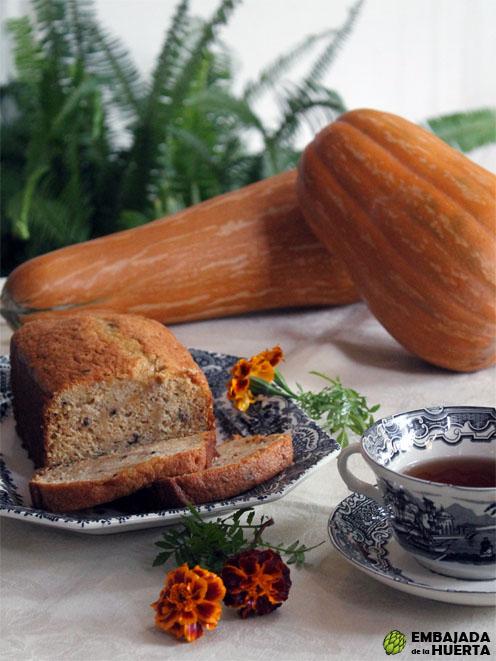 Receta de bizcocho de calabaza con pasas y nueces