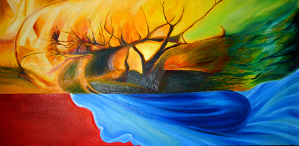 Five Elements Art : I found my thrill over the hill five rivers merlot