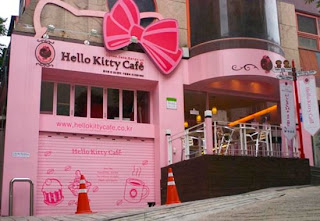 Hello Kitty cafe, Seoul Korea