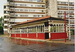 Tram stop in Cosham