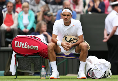 Tennis player Roger Federer at Wimbledon 2013