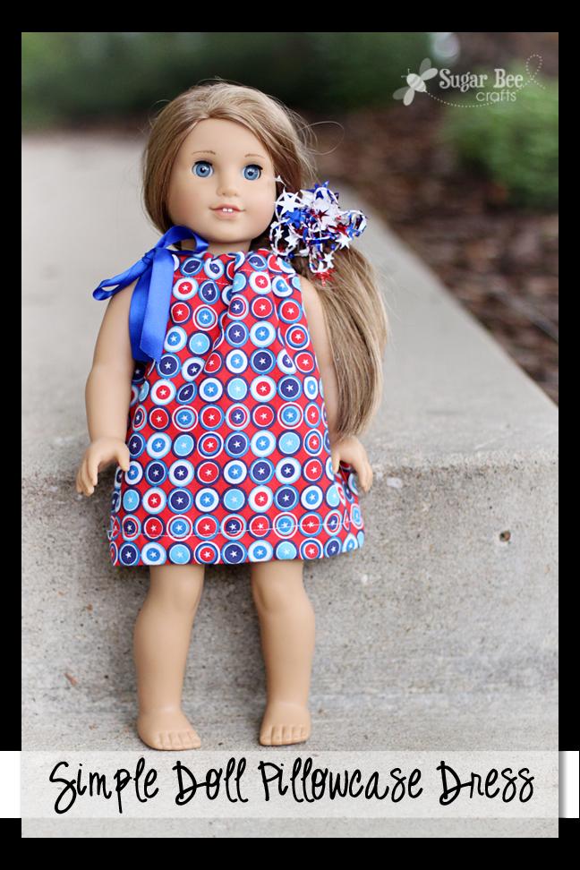 Simple Doll Dress Sugar Bee Crafts