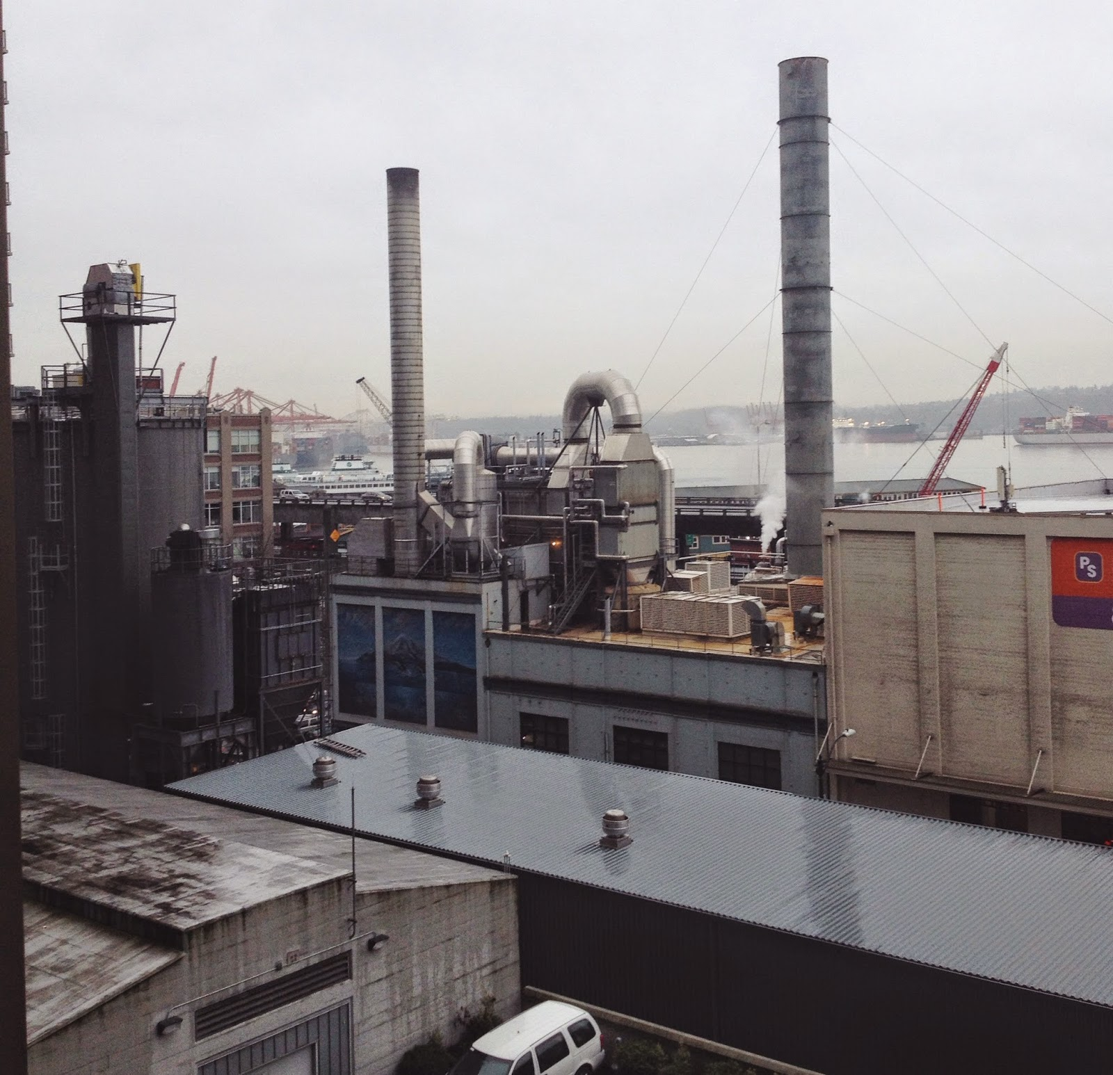 Industrial view of Seattle