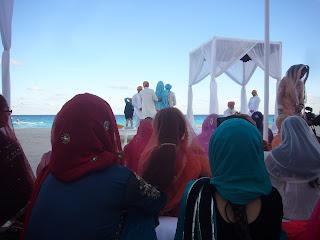 anand karaj Cancun beach wedding  - sikhpriest @gmail.com