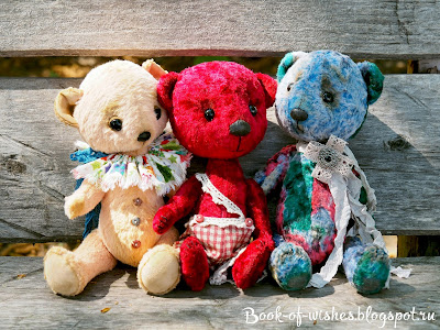 handmade stuffed teddy bears
