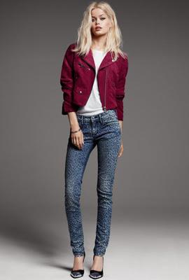 H&M jeans mujer estampado leopardo
