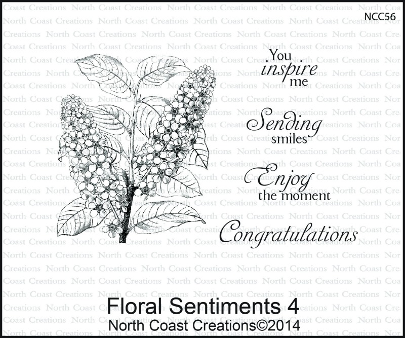 Stamps - North Coast Creations Floral Sentiments 4
