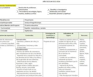 Ejemplo de planificación anual por competencias