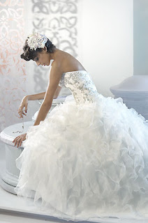 strapples wedding dress