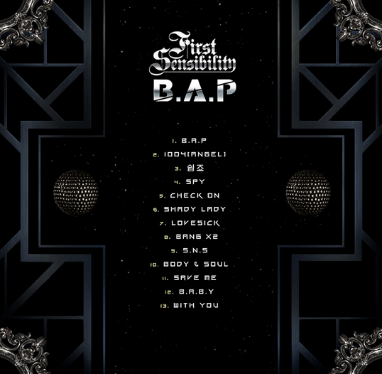 BYS: FIRST SENSIBILITY: 1st Full Album Released on ... Bap 1004 Album Cover