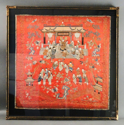 Chinese Silk Court Scene