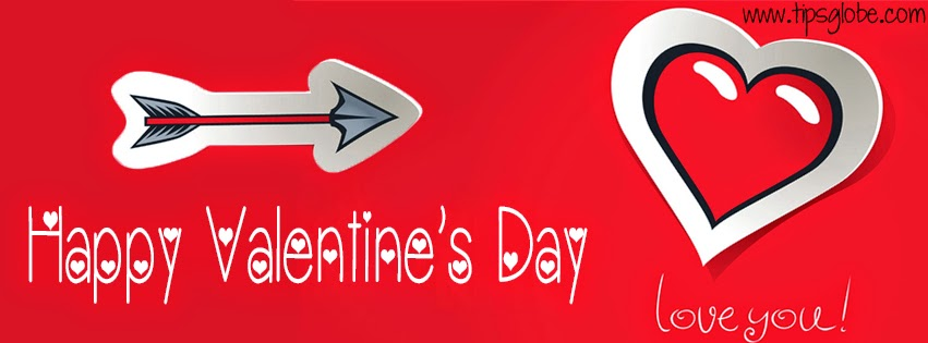 heart with arrow valentine facebook cover 2015