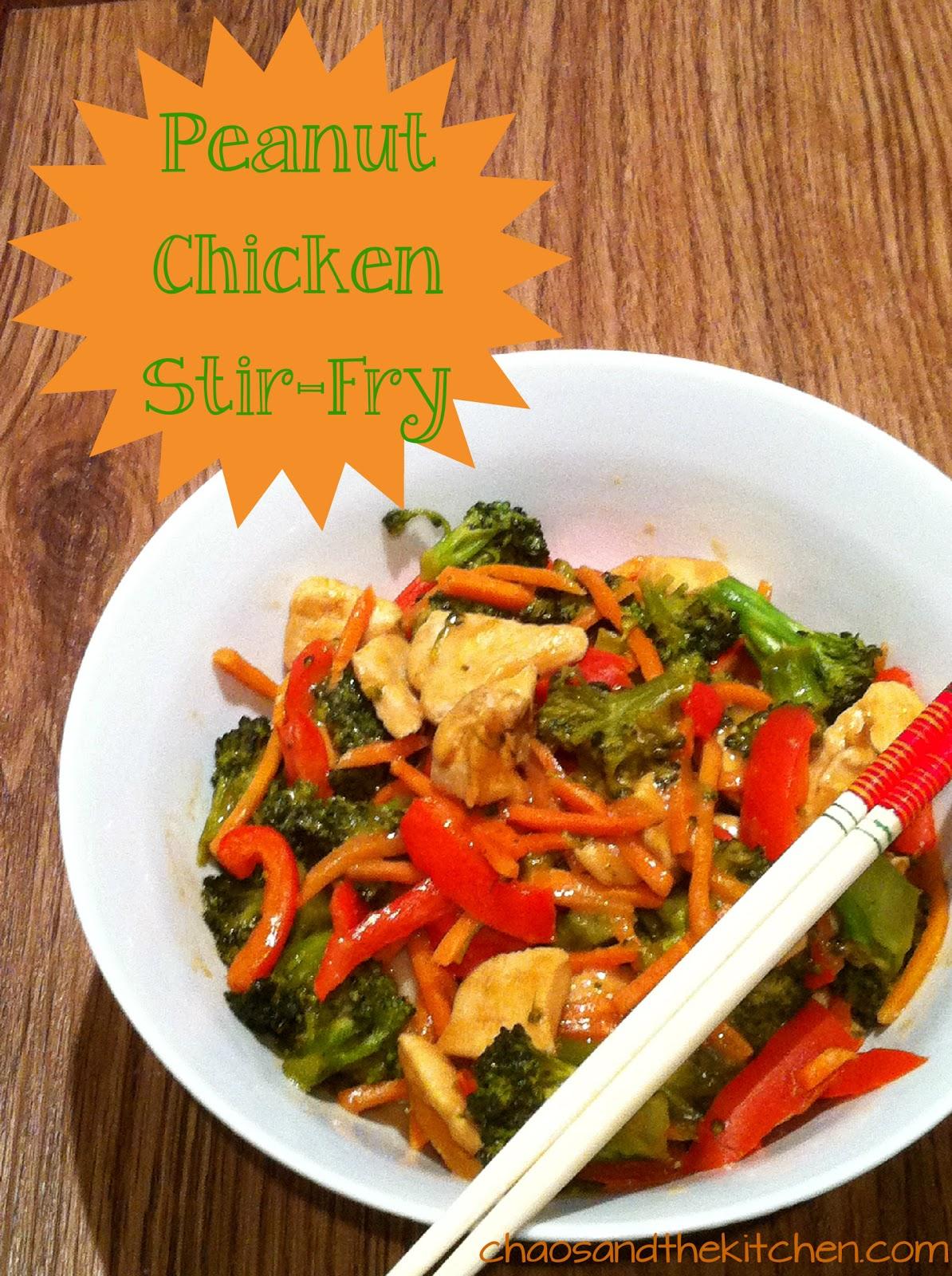 recipe: thai peanut butter chicken stir fry [17]..
