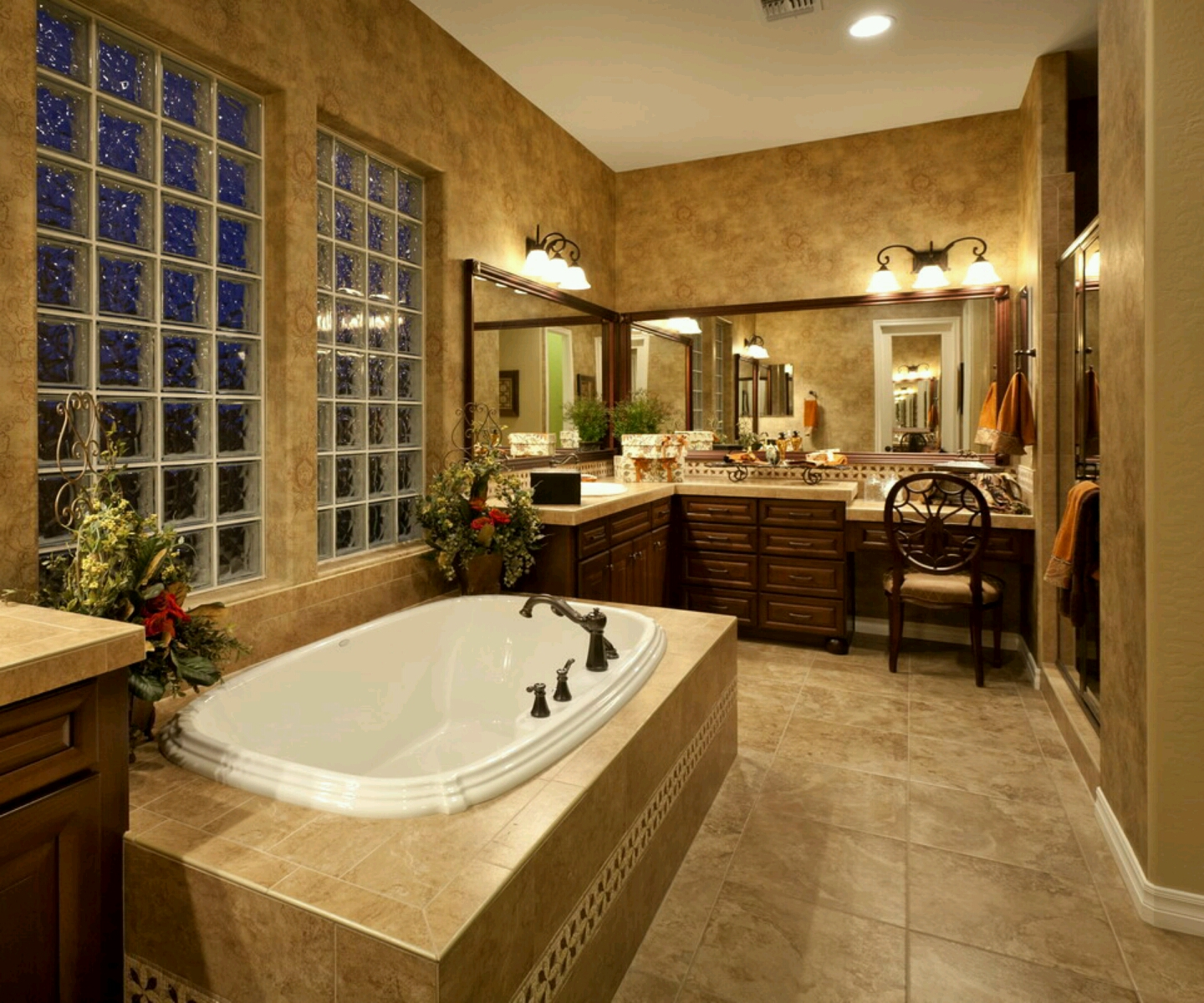 Dark Brown Luxury Bathroom
