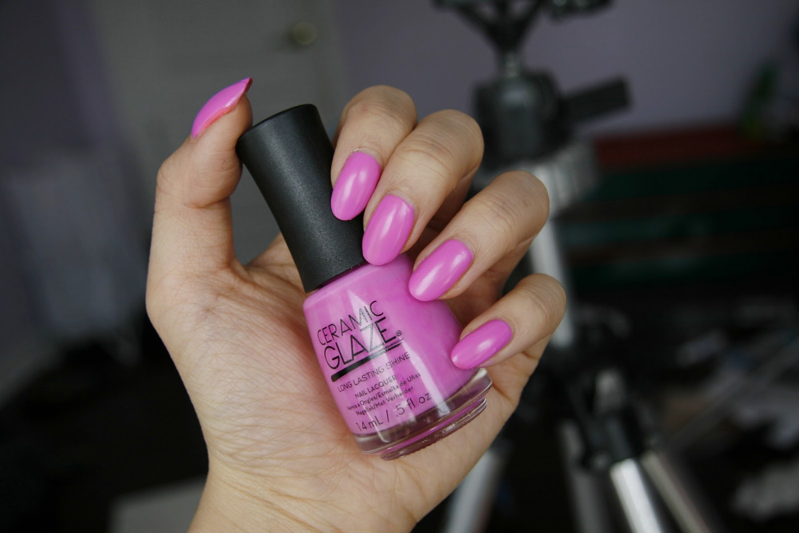 fun size beauty: Neon and Matte - Ceramic Glaze Nail Polish in Shell ...
