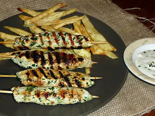 Recette des brochettes de poulet au kefta