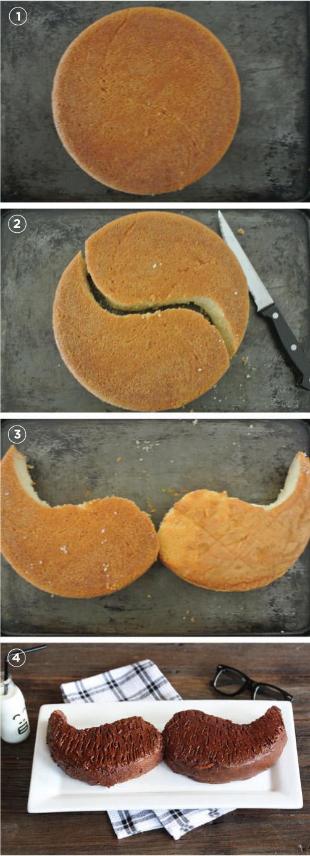 hacer una tarta con forma de bigote