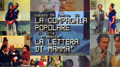 teatr'estate93 - la lettera di mammà