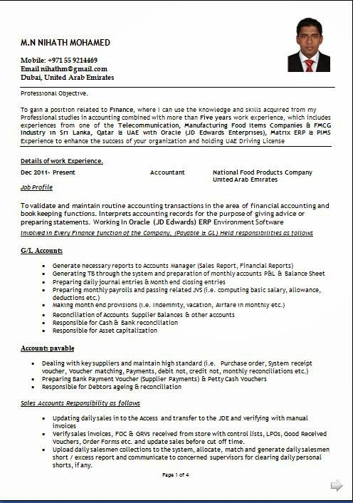Accounts Resume Format Download. 31 best best accounting resume ...