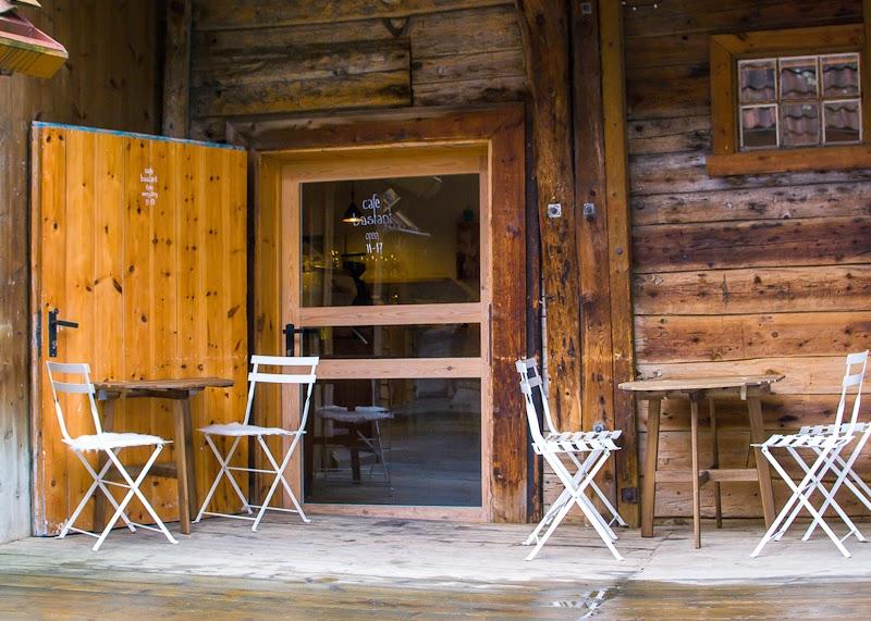 Exterior of cafe basement in bergen norway